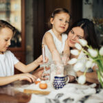 parent and children working toegether