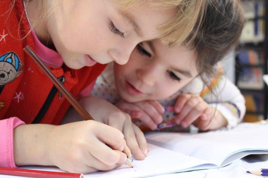 Kids in a homeschool pod